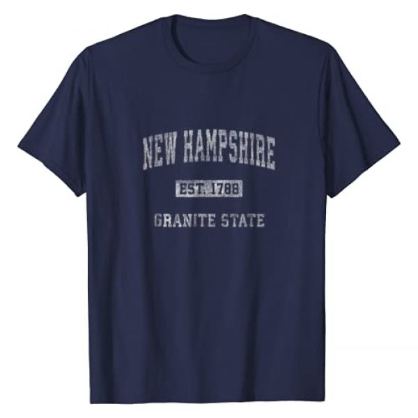 Vintage New Hampshire T-Shirts & NH Sweatshirts Graphic Tshirt 1 Retro New Hampshire T-shirt Vintage Athletic Sports Design