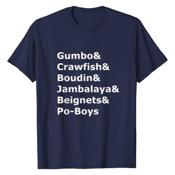 Fun & Spicy Louisiana & Cajun Tees Graphic Tshirt 1 Gumbo, Crawfish, Boudin Louisiana Food Humor T-Shirt