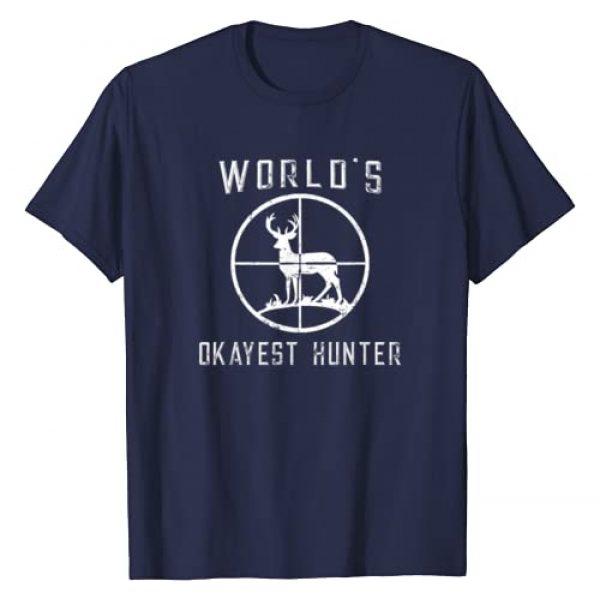 HUNTER Graphic Tshirt 1 World's Okayest Hunter Shirt Funny Hunting Gift T-Shirt T-Shirt
