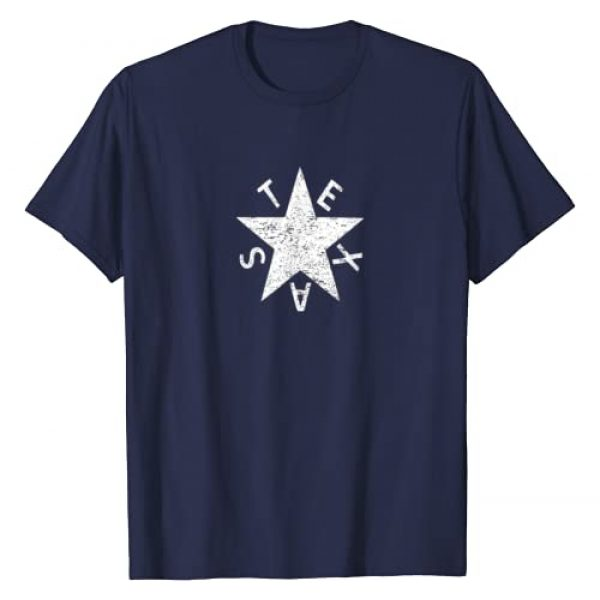 Trendy Lorenzo de Zavala Texas T-Shirts Graphic Tshirt 1 Vintage Retro Lorenzo de Zavala Texas History Star Flag T-Shirt