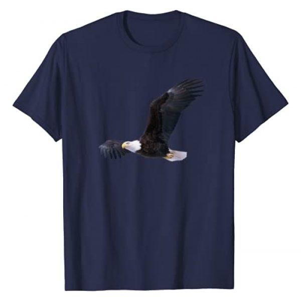 American Eagle Shirts Apparel Graphic Tshirt 1 Elegant American Bald Eagle In Flight Photo Portrait T-Shirt