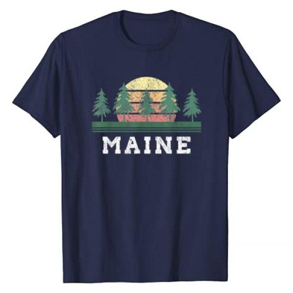 Retro Vintage Maine T-Shirts Tee Graphic Tshirt 1 Maine T-Shirts Retro Vintage Shirt Gift Men Women Kids