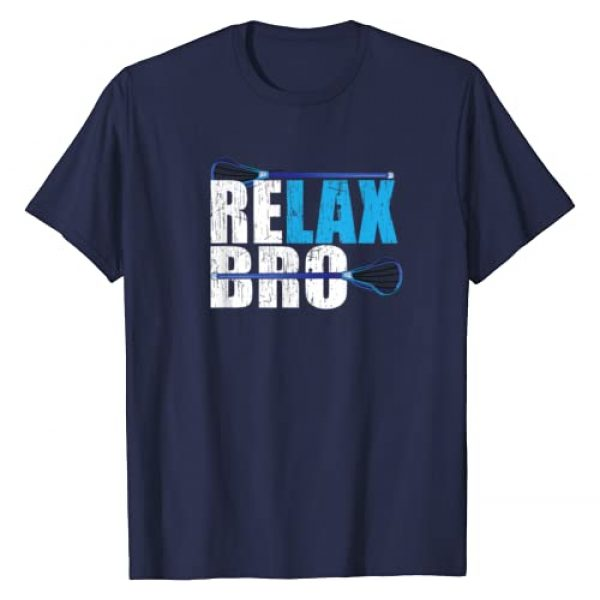 Lacrosse Gifts designs Graphic Tshirt 1 ReLAX Bro Lacrosse Player design T-Shirt