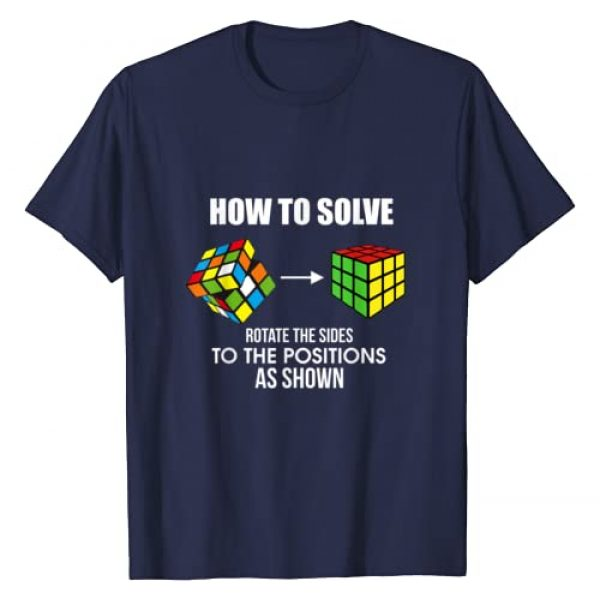 How To Solve Puzzle Cube - Funny Cubing Gifts Graphic Tshirt 1 How To Solve Puzzle Cube - Funny Cubing T-Shirt