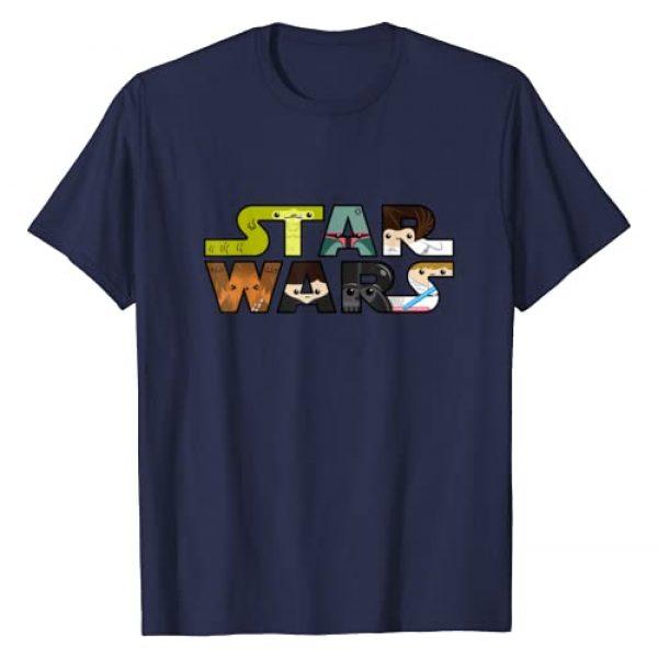 Star Wars Graphic Tshirt 1 Logo Character Close-Up Kawaii Style T-shirt