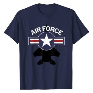 Great Military Veterans T-Shirts Graphic Tshirt 1 Air Force with F15 Jet and Vintage Roundel T-Shirt