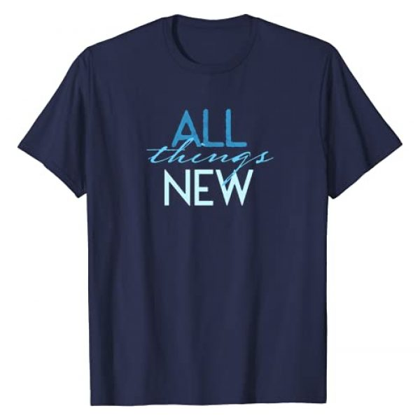 Campout Designs Graphic Tshirt 1 All Things New Baptism T-Shirt
