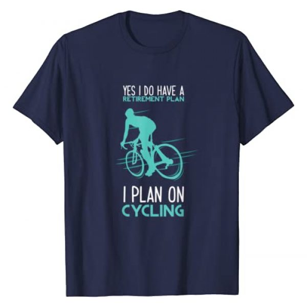 Funny Cycling Shirts & Retirement Gifts Graphic Tshirt 1 Funny Retirement Plan Cycling T-Shirt - Bicycle Gift