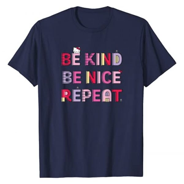 Hello Kitty Graphic Tshirt 1 Be Kind Be Nice Repeat T-Shirt