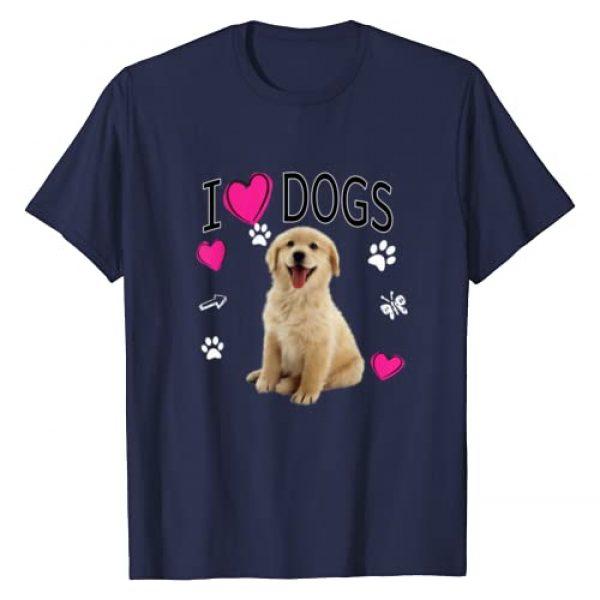 I LOVE DOGS DESIGNS Graphic Tshirt 1 I Love Dogs Shirt - Golden Labrador retriever t shirt
