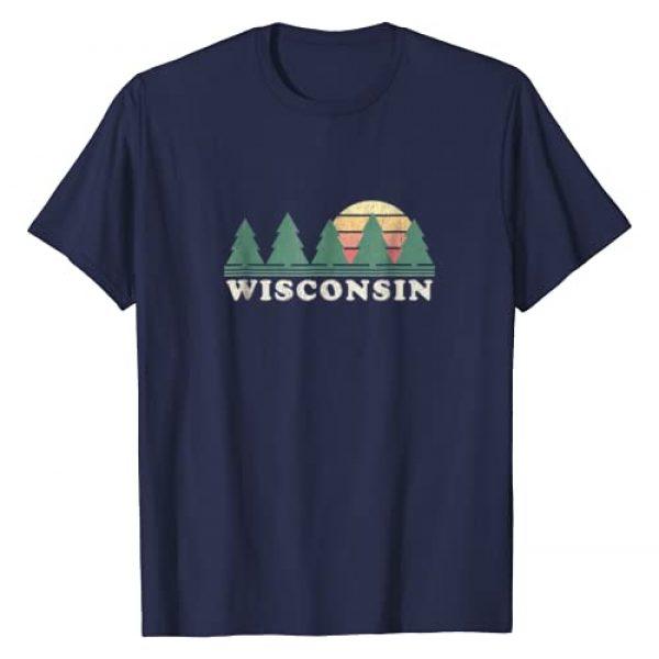 Wisconsin T-Shirts & Vintage Tees Graphic Tshirt 1 Wisconsin WI T-Shirt Vintage Graphic Tee Retro 70s Design