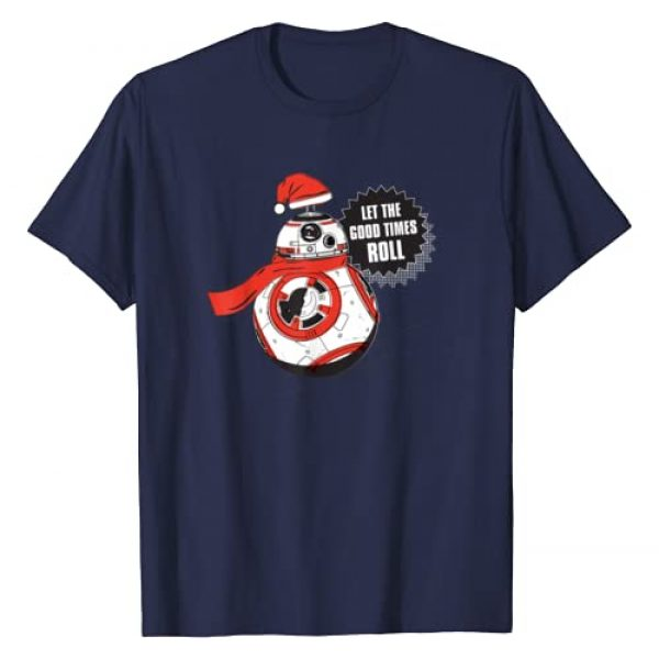 Star Wars Graphic Tshirt 1 BB-8 Let the Good Times Roll Holiday T-Shirt
