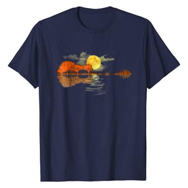 Guitar T-shirt Graphic Tshirt 1 Guitar Lake Shadow Love, Guitar T-Shirt
