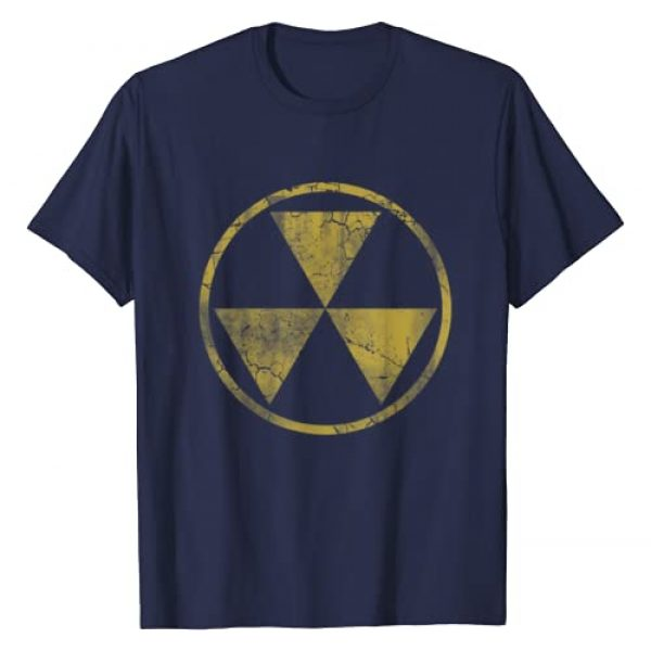 Tee Styley Graphic Tshirt 1 Fallout Nuclear Symbol Retro Fade Distressed T-Shirt