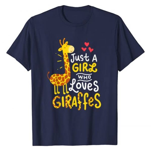 Giraffes Giraffes Giraffes Graphic Tshirt 1 Giraffe Just A Girl Who Loves Giraffes Gift T-Shirt
