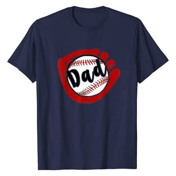Baseball Shirts by BUBL TEES Graphic Tshirt 1 Baseball Dad T Shirt for Baseball Softball Mom T-Shirt