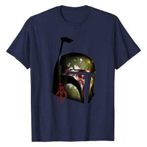 Star Wars Graphic Tshirt 1 Boba Fett Mandalorian Helmet Graphic T-Shirt