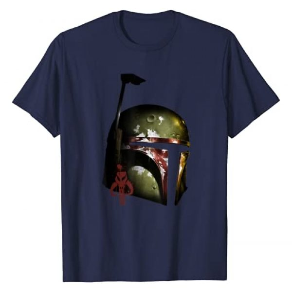 Star Wars Graphic Tshirt 1 Boba Fett Mandalorian Helmet Graphic T-Shirt