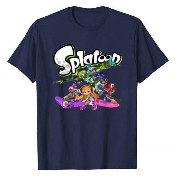 Splatoon Graphic Tshirt 1 Logo Teams Group Shot T-Shirt