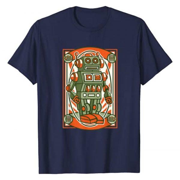 GSK Design Co. Graphic Tshirt 1 Vintage Robot Old School Toys Graphic T Shirt T-Shirt