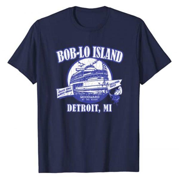 ROBOTFACE T-Shirts Graphic Tshirt 1 Boblo Island (vintage look) - Detroit, Michigan