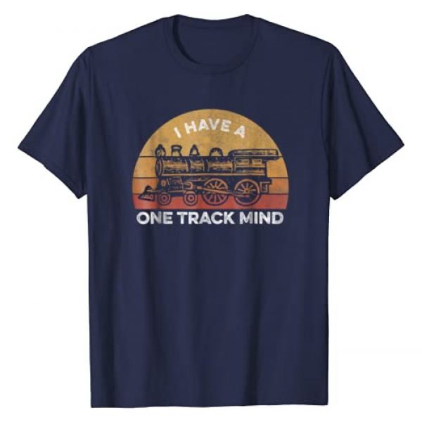 Model Train Tee Shirts for Collectors Graphic Tshirt 1 Train T Shirt for Men - I Have A One Track Mind