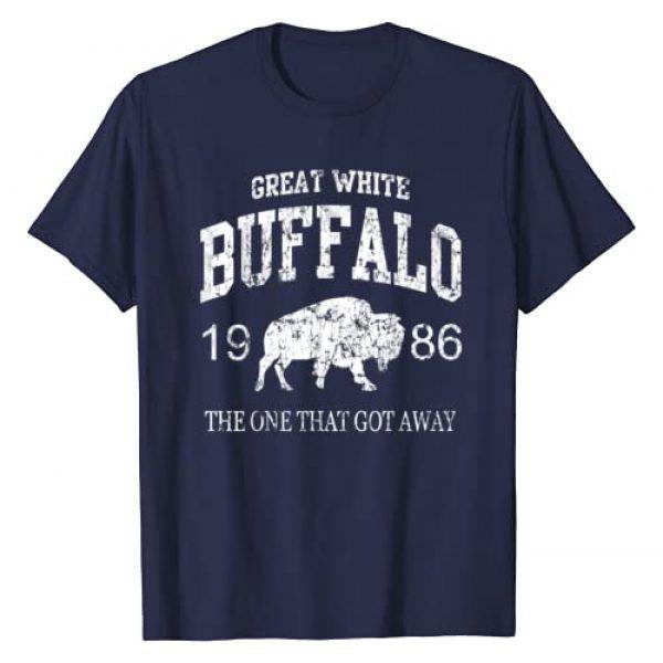 Tee Styley Graphic Tshirt 1 Great White Buffalo T-Shirt One That Got Away Shirt