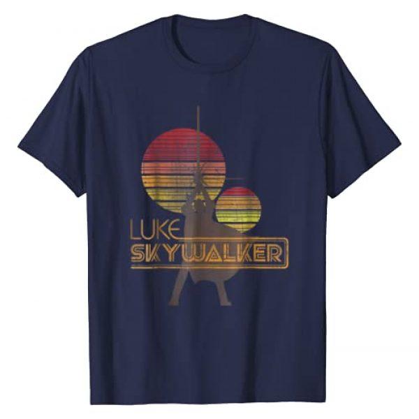 Star Wars Graphic Tshirt 1 Retro Luke Skywalker Silhouette Suns T-Shirt
