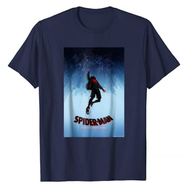 Marvel Graphic Tshirt 1 Spider-Man Spiderverse Upside Down Poster T-Shirt