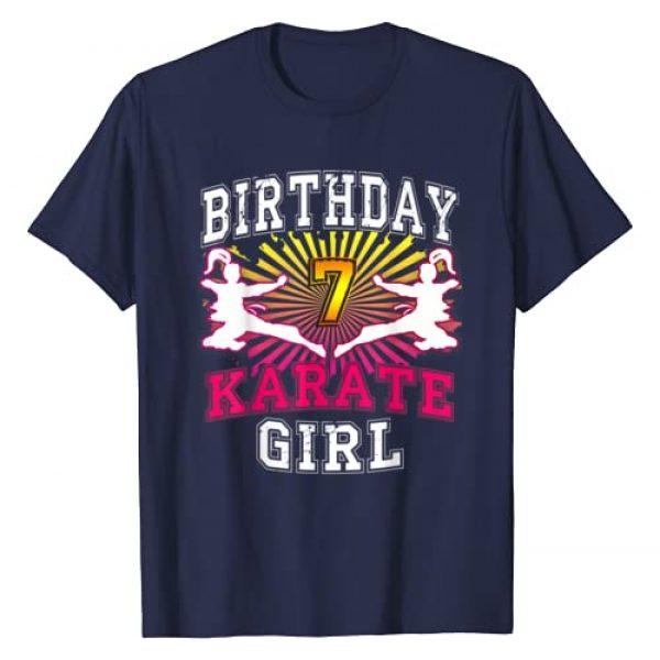 LVGTeam Graphic Tshirt 1 7th Birthday Girl Shirt - Karate T-Shirt 7 years old kid