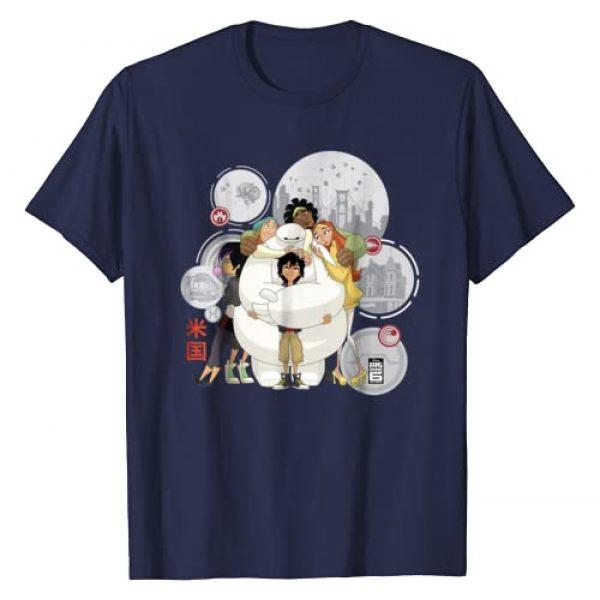 Disney Graphic Tshirt 1 Big Hero 6 TV Series Baymax Hugs Graphic T-Shirt
