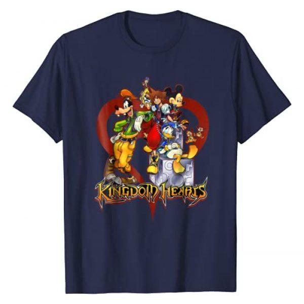 Disney Graphic Tshirt 1 Kingdom Hearts Group Heart T-shirt