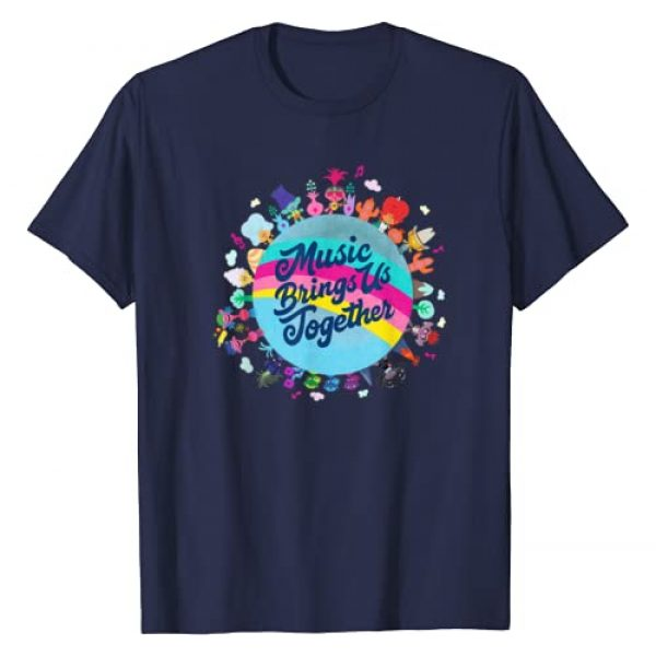 DreamWorks Trolls Graphic Tshirt 1 Trolls World Tour Music Brings Us Together T-Shirt