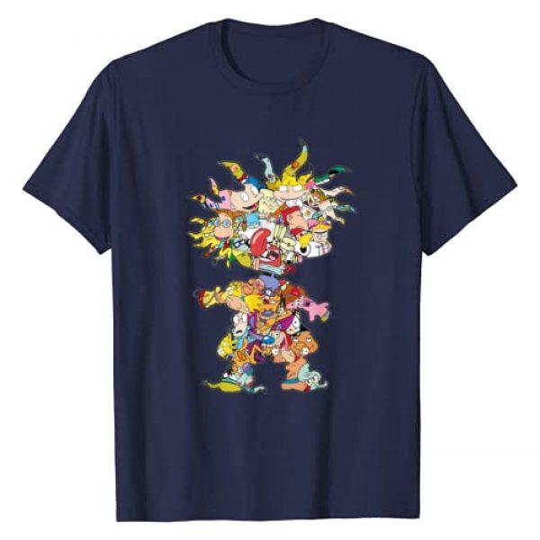 Nickelodeon Graphic Tshirt 1 90s Nick Chuckie Character Silhouette T-Shirt