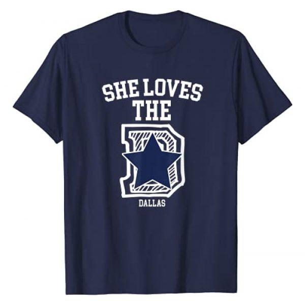 Dallas Fan Graphic Tshirt 1 She Loves The Dallas D Texas City Funny Classic Football T-Shirt