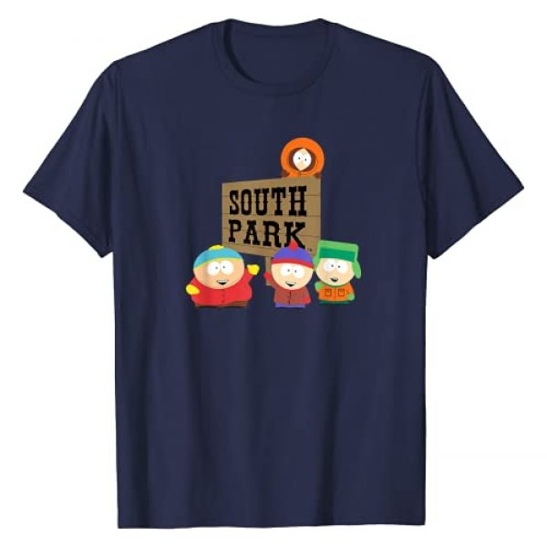 South Park Graphic Tshirt 1 Gang with Sign T-Shirt