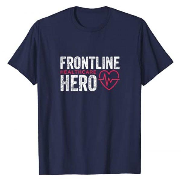 Frontline Hero Essential Worker Healthcare Gifts Graphic Tshirt 1 Frontline Hero Healthcare Worker Frontline Essential Worker T-Shirt