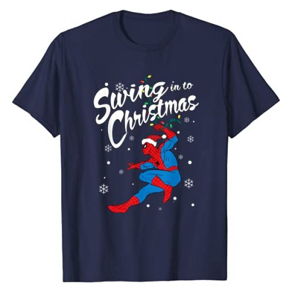 Marvel Graphic Tshirt 1 Spider-Man Swing In To Christmas T-Shirt