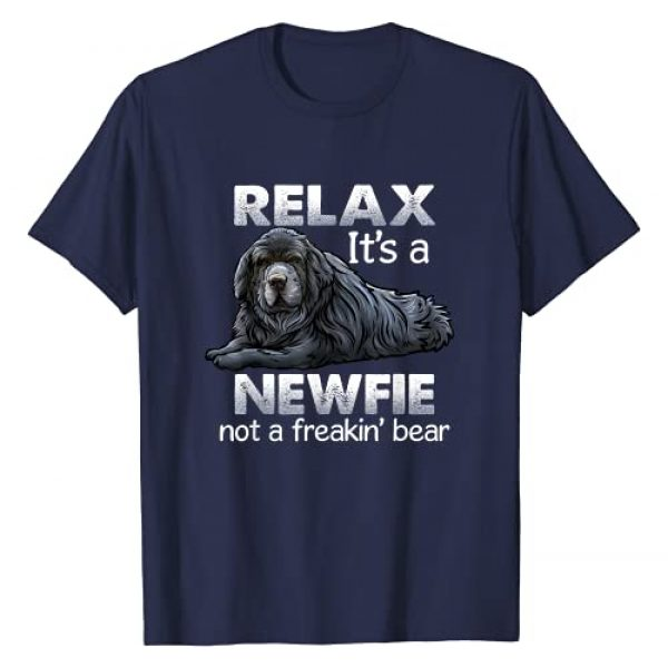Critterz Dog Apparel Graphic Tshirt 1 Relax It's A Newfie - Newfoundland Dog Owner T-Shirt