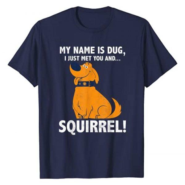 Disney Graphic Tshirt 1 Up My Name is Dug Squirrel Graphic T-Shirt T-Shirt