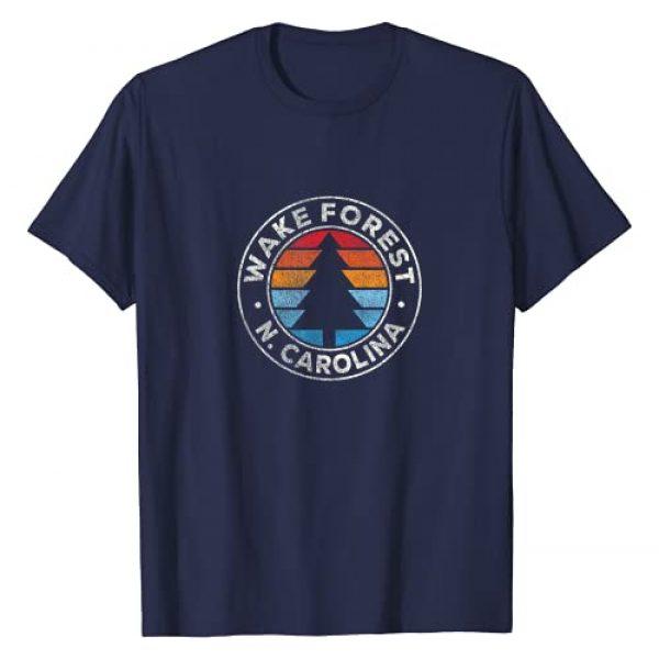Vintage Wake Forest NC Shirts & Retro Tees Graphic Tshirt 1 Wake Forest North Carolina NC Vintage Graphic Retro 70s T-Shirt