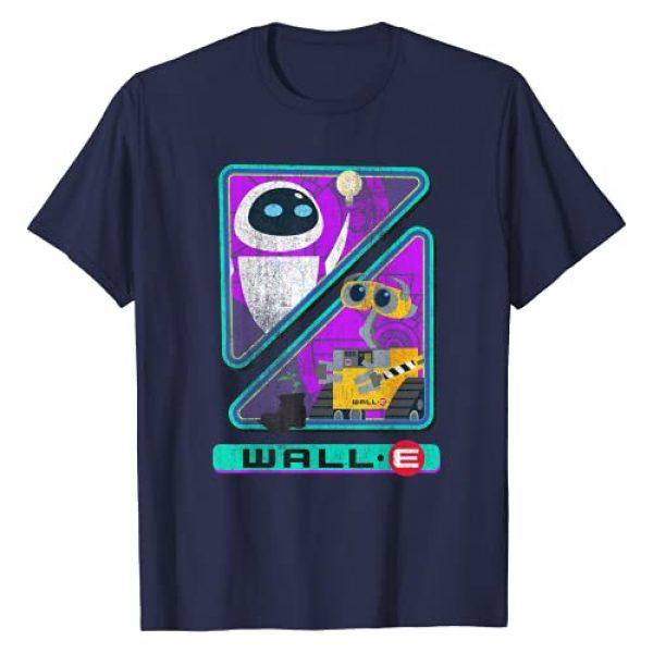 Disney Graphic Tshirt 1 Pixar Wall-E Triangles And Eve Graphic T-Shirt T-Shirt