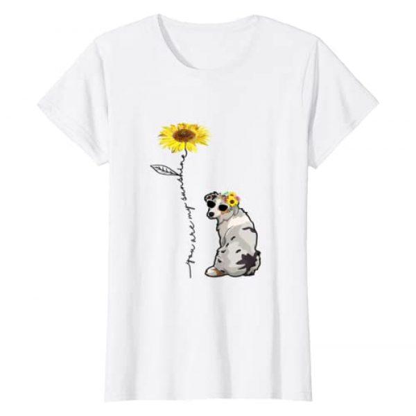 Australian Shepherd July Vintage Graphic Tshirt 1 You Are My Sunshine Australian Shepherd t shirt, Sunflower a