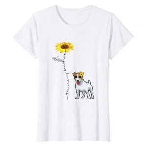 Jack Russell Terrier Cool Graphic Tshirt 1 You Are My Sunshine Jack Russell Terrier t shirt, Sunflower