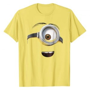 Despicable Me Graphic Tshirt 1 Minions Stuart Only His Face Graphic T-Shirt