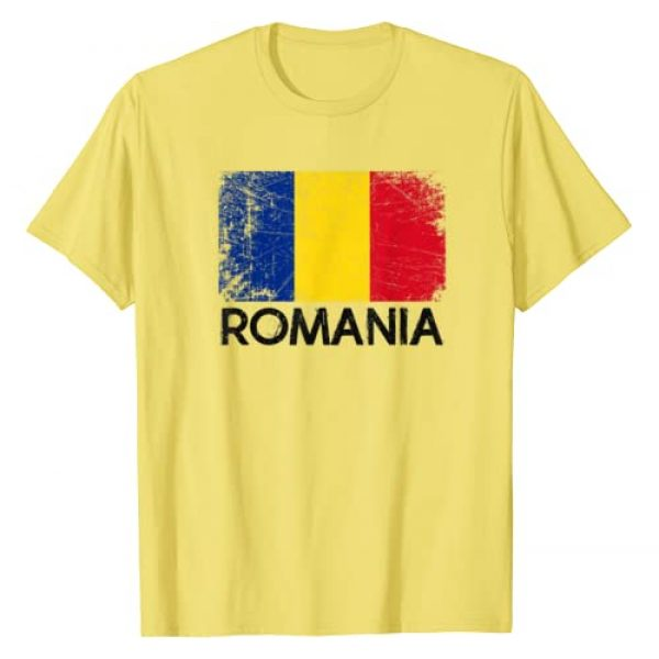 National Team Pride Country Roots Retro Outfit Graphic Tshirt 1 Romanian Flag T-Shirt   Vintage Made In Romania Gift