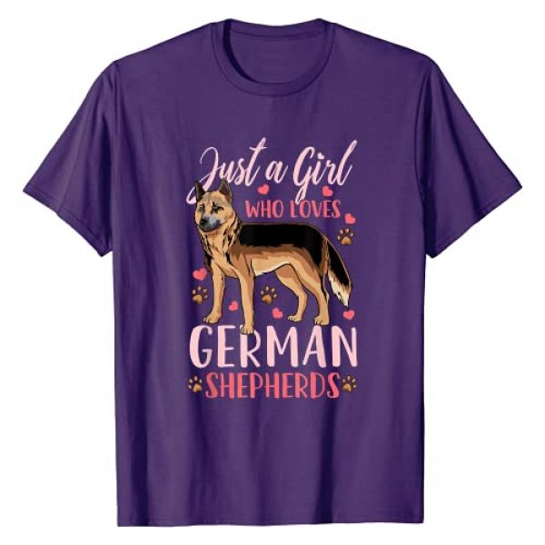 Just a Girl Who Loves German Shepherds Graphic Tshirt 1 German Shepherd Just a Girl Who Loves German Shepherds Gift T-Shirt