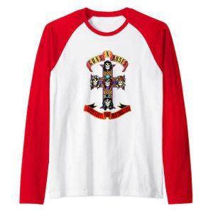 Guns N Roses Graphic Tshirt 1 Guns N' Roses Official Cross Raglan Baseball Tee