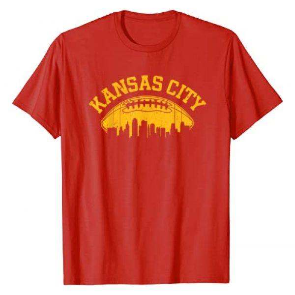 KCRetroFootballCo. Graphic Tshirt 1 Kansas City Football Vintage KC Skyline Missouri Retro T-Shirt