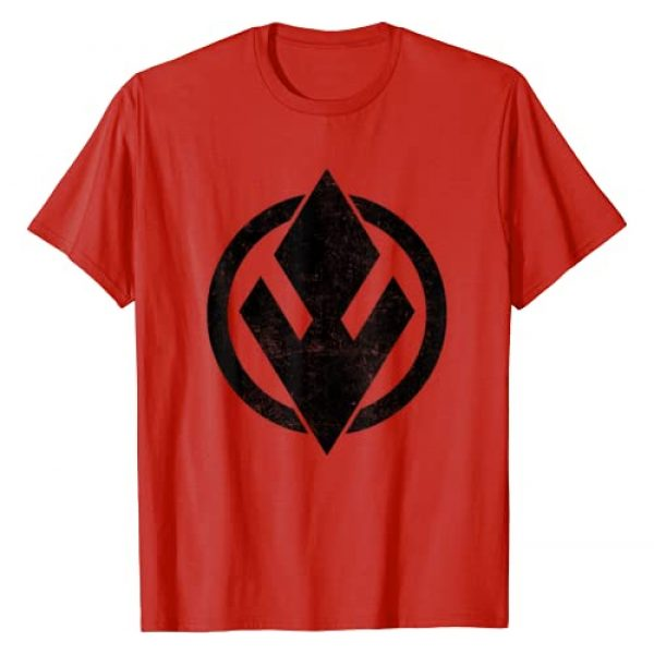 Star Wars Graphic Tshirt 1 Red Sith Trooper Symbol All Black Logo T-Shirt
